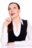 bizneswoman rozważny fotografia stock