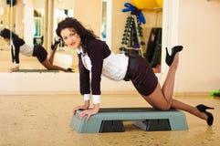 bizneswoman sprawność fizyczna Obrazy Stock