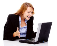 bizneswoman stresujący się Obraz Stock