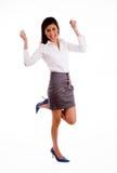 bizneswoman strona pozy strona Obraz Royalty Free