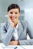 bizneswoman szczęśliwy Zdjęcia Stock