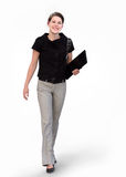 bizneswoman szczęśliwy zdjęcie stock