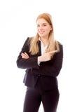 bizneswoman target422_0_ portret obraz stock