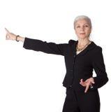 bizneswoman target1688_0_ seniora Obraz Stock