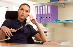 bizneswoman target1852_0_ biurowego telefon Zdjęcia Stock