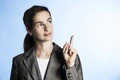 bizneswoman target489_0_ portret zdjęcie stock