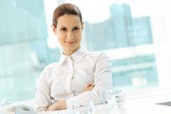 bizneswoman ufny Fotografia Stock