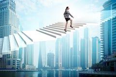 Bizneswoman w ambicji i determinacji poj?ciu royalty ilustracja