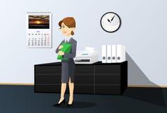 Bizneswoman w biurze royalty ilustracja