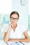 Bizneswoman w biurze fotografia stock