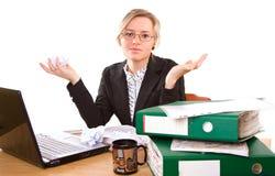 Bizneswoman w biurze zdjęcia royalty free