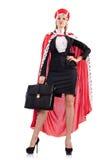 Bizneswoman w królewskim kostiumu Obrazy Royalty Free