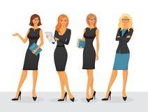 Bizneswoman w różnorodnych pozach Zdjęcie Royalty Free