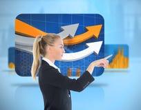 Bizneswoman wskazuje gdzieś Fotografia Stock