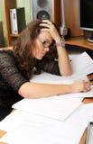 bizneswoman wyczerpujący Fotografia Stock