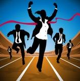 Bizneswoman wygrywa rasy Zdjęcie Stock