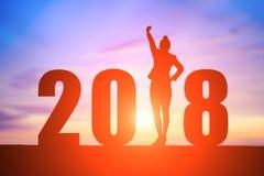 Bizneswoman z 2018 Obrazy Royalty Free