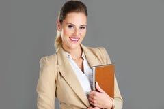 Bizneswoman z agendą Obrazy Royalty Free