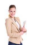 Bizneswoman z agendą Obraz Stock
