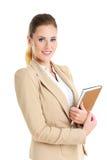 Bizneswoman z agendą Obrazy Stock