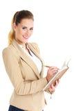 Bizneswoman z agendą Fotografia Royalty Free
