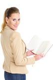 Bizneswoman z agendą Fotografia Stock