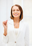 Bizneswoman z eyeglasses fotografia royalty free