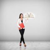 Bizneswoman z książką Fotografia Stock