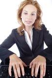 Bizneswoman z laptopem Zdjęcie Royalty Free