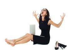 Bizneswoman z laptopem Obraz Stock