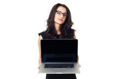 Bizneswoman z laptopem Fotografia Royalty Free