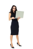 Bizneswoman z laptopem Obraz Royalty Free