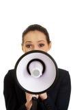Bizneswoman z megafonem Obraz Royalty Free