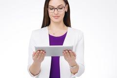 Bizneswoman z pastylka komputer osobisty Zdjęcie Royalty Free