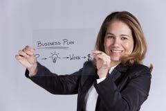 Bizneswoman z pomysłami dla sukcesu obrazy royalty free