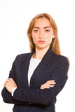 Bizneswoman z rękami krzyżował obrazy stock
