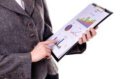 Bizneswoman z raportem Obraz Stock