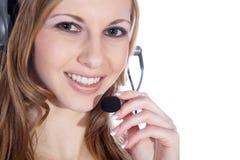 Bizneswoman z słuchawki Obraz Stock