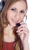 Bizneswoman z słuchawki Zdjęcie Stock