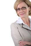 Bizneswoman z szkłami Fotografia Stock