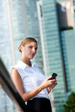 Bizneswoman Z Telefonem Zdjęcia Stock