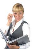 bizneswoman zaskakujący Fotografia Royalty Free