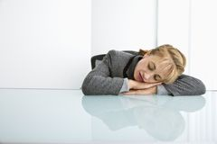bizneswomanu śpi Fotografia Stock