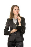 bizneswomanu atrakcyjny główkowanie Zdjęcie Stock
