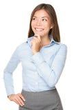 bizneswomanu azjatykci główkowanie obrazy stock