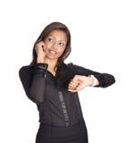 bizneswomanu azjatykci telefon komórkowy Obraz Royalty Free