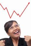 bizneswomanu azjatykci wykres azjatykci widzii Fotografia Royalty Free
