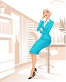 bizneswomanu biuro royalty ilustracja