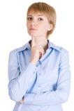 bizneswomanu blond główkowanie Obraz Royalty Free