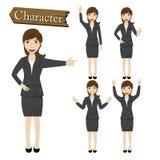 Bizneswomanu charakter - ustalona wektorowa ilustracja Obrazy Stock